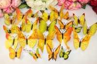 Набор бабочек на магните (цв. микс) упак.12 шт.