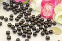 Бусины под жемчуг (черный)8мм в упаковке 500 гр.