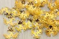 Шапочки для бусин металл d-16мм, цв.золото, упак. 25 гр