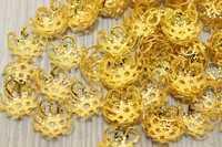Шапочки для бусин металл d-11мм, цв.золото, упак. 25 гр