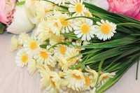 Ромашка букет 35см пластик (цветок 1-3,5 см), упак 2шт