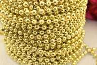 Бусы на нитке под жемчуг (золото), 5мм * 30 ярдов(+-3)