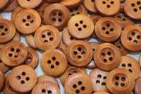 Пуговицы деревянные 15мм (коричневый), упак. 50гр (120-130 шт)