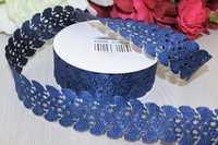 Декоративная лента с перфорацией (джинс), 35мм * 20 ярдов(+-1)