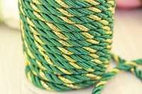Шнур декоративный (зелено-золотистый), 5-6мм*10ярдов(+-1), упак.1шт