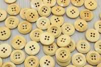 Пуговицы деревянные 20мм (бежевый), упак. 50гр (60-65 шт)