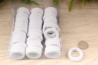 Резинки бесшовные для волос (белый), 30мм, упак. 66шт(+-2)