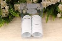 Резинки бесшовные для волос (белый), 40мм, упак. 24шт